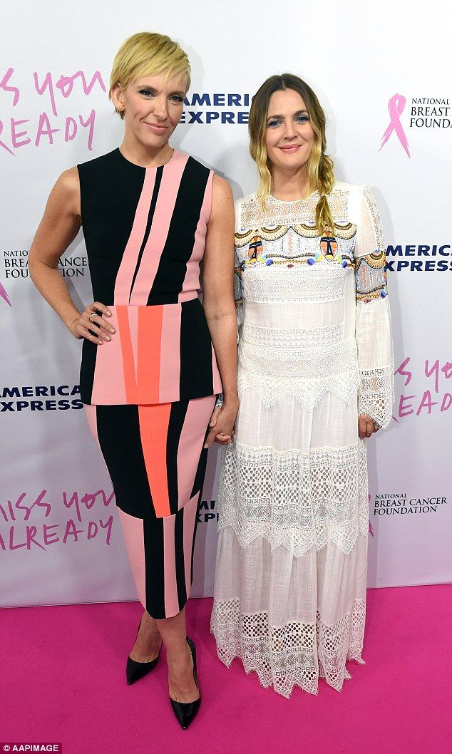 Becoming inseparable: Australian star Toni Collette and Hollywood royalty Drew Barrymore, ...