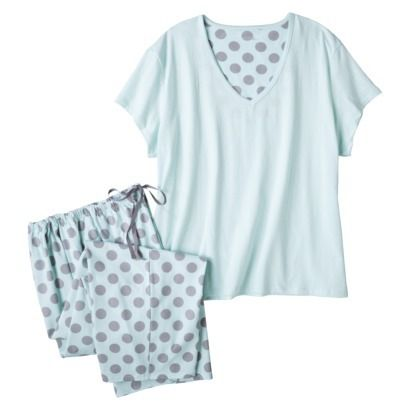 Women's Plus-Size Top/Capri Pajama Set - Assorted Patterns/Colors