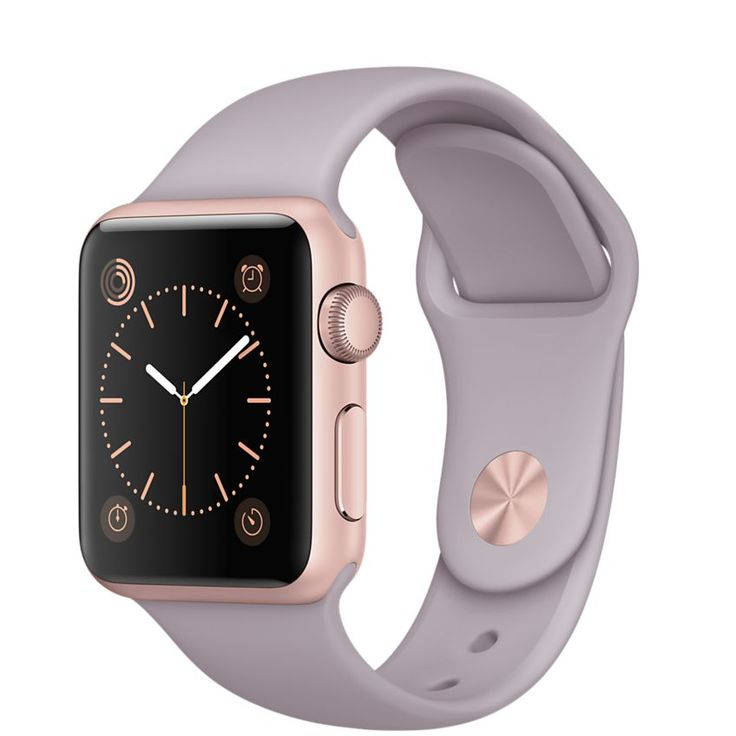 Buy Apple Watch Sport 38mm Rose Gold Aluminum Case with Lavender Sport Band - Apple