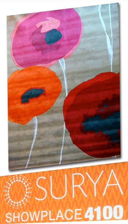#SURYA [Show 4100] Hand-tufted Sanderson Rug - Gorgeous and vibrant color combination - destined to create a stylish space!! #HPMKT #stylespotters