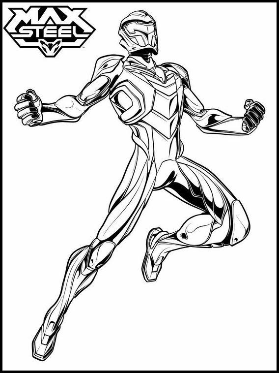 Dibujos para Colorear. Dibujos para imprimir y pintar Max Steel 38 ...