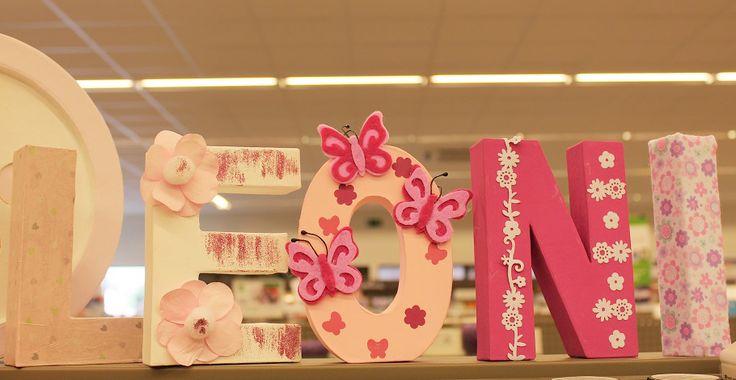 Inspiratie geboorte - décopatch en versier de letters van je kindje.