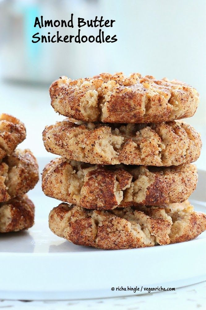 Almond Butter Snickerdoodles. Vegan Recipe | Vegan Richa