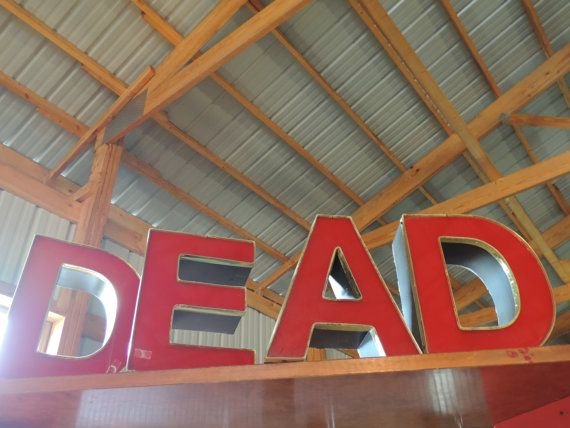 Salvage letters price is for one red letters available for Furniture 5 letters