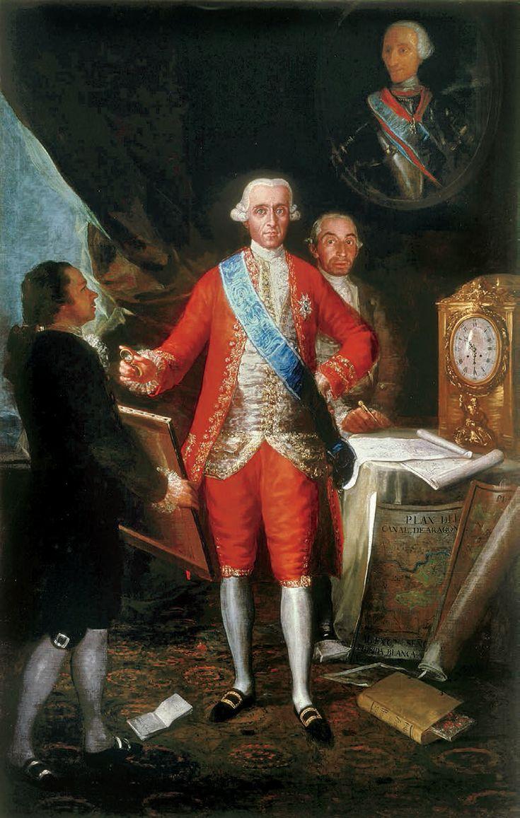 Francisco Goya. Ritratto di José Moñino, primo Conte di Floridablanca e Francisco Goya. Madrid, Banco de Espana, sede centrale