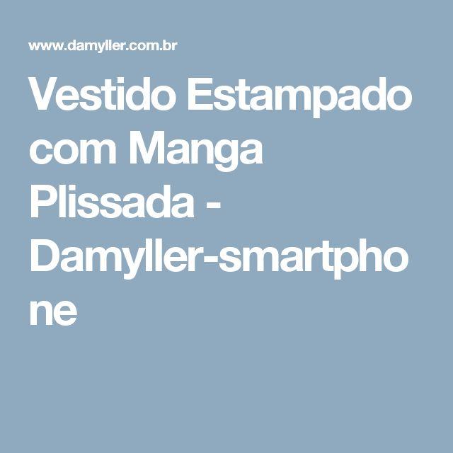 Vestido Estampado com Manga Plissada - Damyller-smartphone