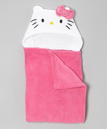 Take a look at this Pink Hello Kitty Hooded Towel by Hello Kitty on #zulily today!