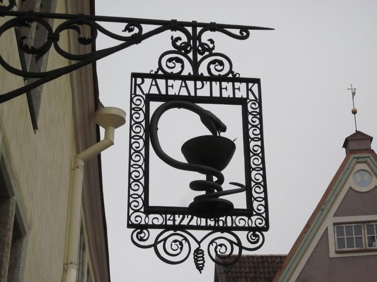 Pharmacy shop sign - Estonia