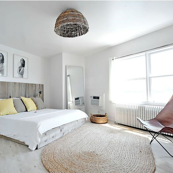 La corde investit le tapis pour un esprit nature dans la chambre à coucher