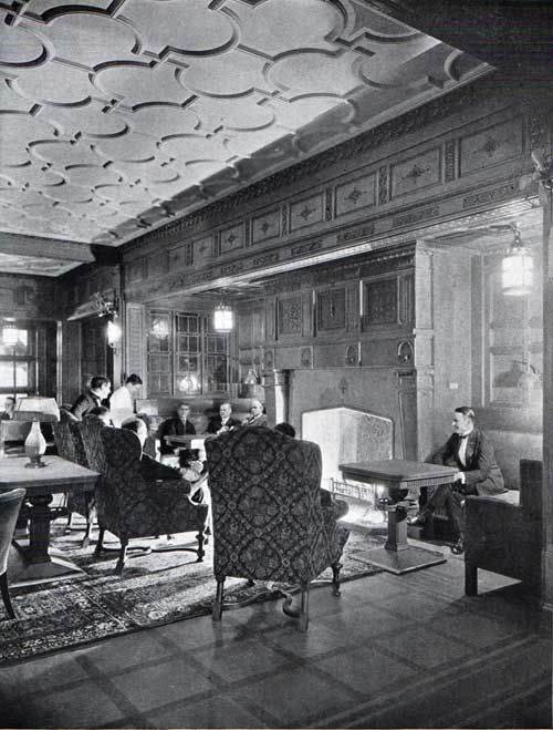 A view of the Smoking Room--S.S. Leviathan | Ocean Liner ...