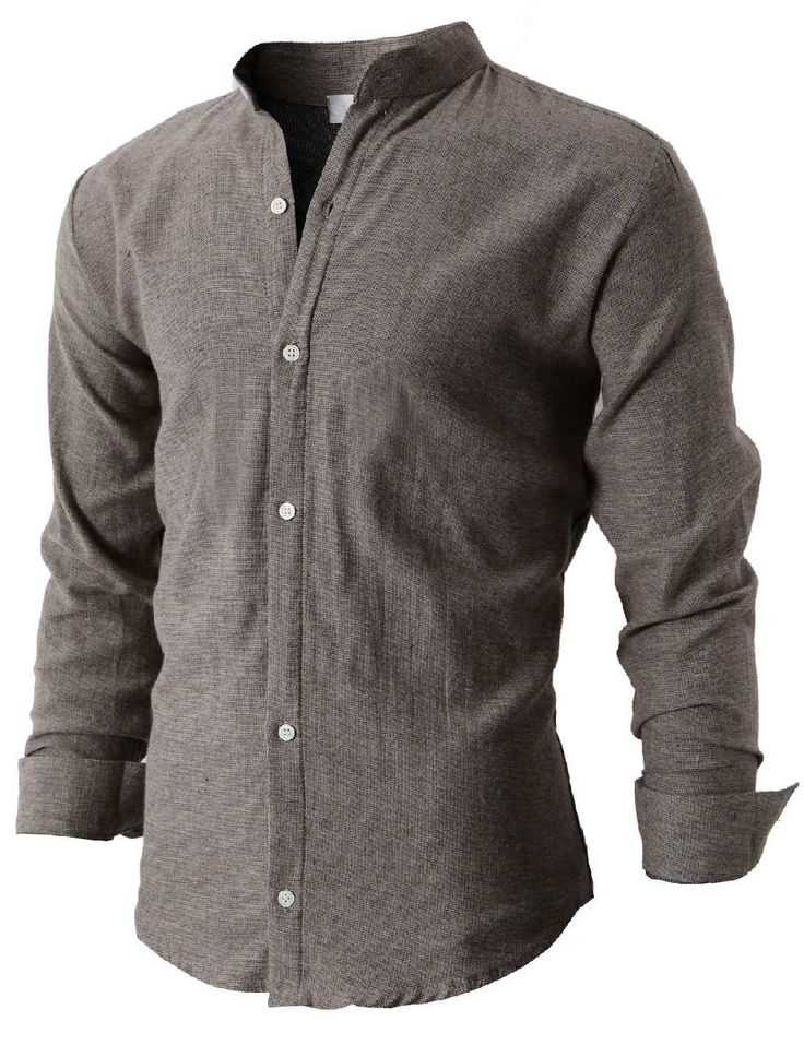I actually like these mandarin collar shirts. They're interesting, and add a nice touch to a more casual outfit.