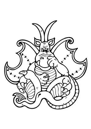 ausmalbild drache bohrt nase zum kostenlosen ausdrucken
