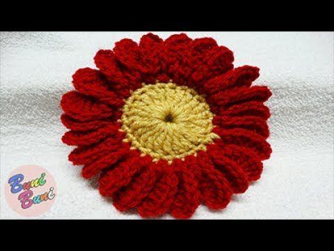 CROSETAT - Model Floare cu 24 petale(Crochet Flower)