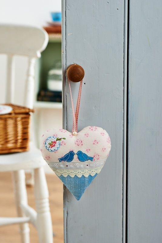 This beautiful fabric heart would be a lovely wedding present, especially with the love bird motif (Sew 59, May issue)