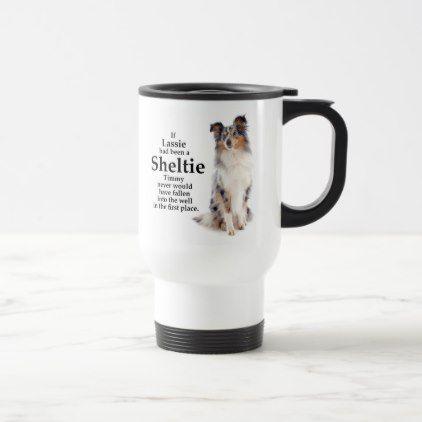 Timmy's Blue Merle Sheltie Travel Mug - home gifts ideas decor special unique custom individual customized individualized