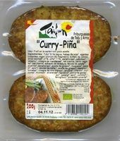 Hamburguesas vegetales Friburguesas de tofu y arroz Curry-Piña - Producto