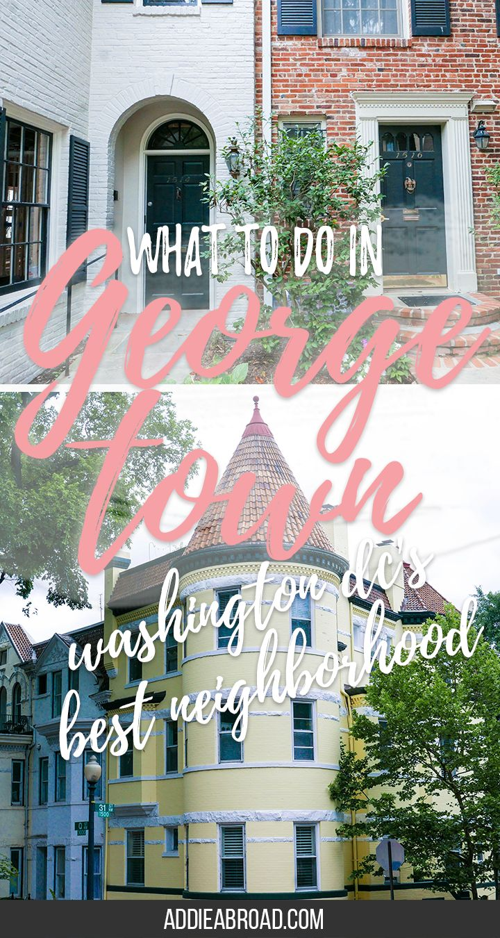 One of the prettiest neighborhoods in Washington DC is, without a doubt, Georgetown. Whether you're there for DC cupcakes or the gorgeous gothic architecture of Georegtown University, you're sure to find something to love. And did I mention there's a cat cafe? | What to do in Georgetown | What to do in Washington DC