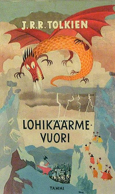 Hobbit cover by Tove Jansson, creator of the Moomins
