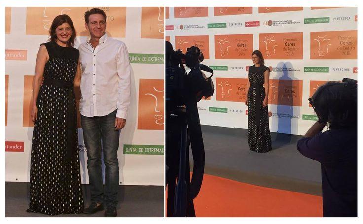 ¡Guapísima la actriz Nieve de Medina en la 61ª edición del Festival Internacional de Teatro Clásico de Mérida, con un espectacular vestido de nuestra colección #FW1516!