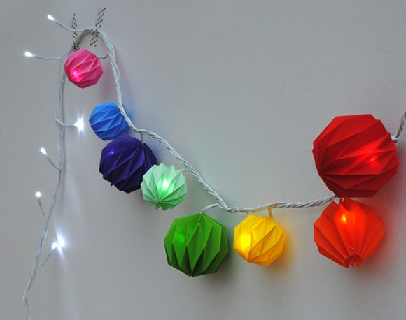 DiY guirlande lampion façon origami - garland origami diy by Mini-eco