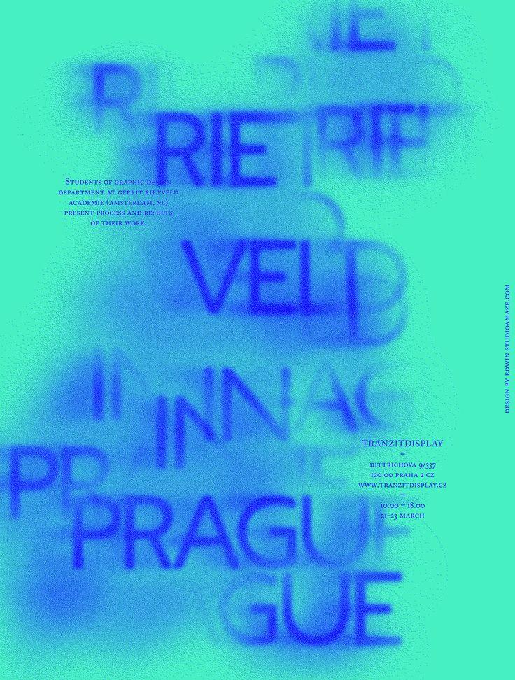 Tranzitdisplay, poster designed by Edwin Bonnaffé (2011) –Type OnlyUnit Editions
