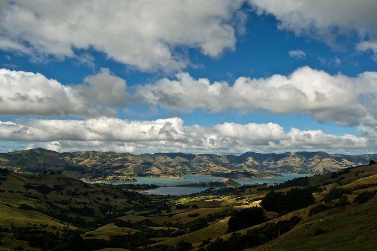 a view of Akaroa, near Christchurch