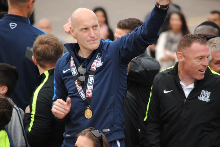 Adam Barrett League 2 playoff victory parade, Southend Seafront. 2014