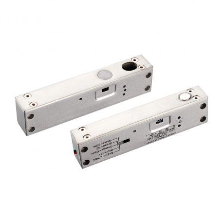 Mini bolt electric aplicat sau incastrat YB-500I(LED). CARACTERISTICILE MINI BOLTULUI ELECTRIC YB-500I(LED) YB-500I(LED) este un mini bolt electric ce se monteaza incastrat sau aplicat  Consum: Actionare 900mA/12 Vcc, Standby 120mA/12 Vcc Dimensiuni:  Bolt: 150x25x37 mm