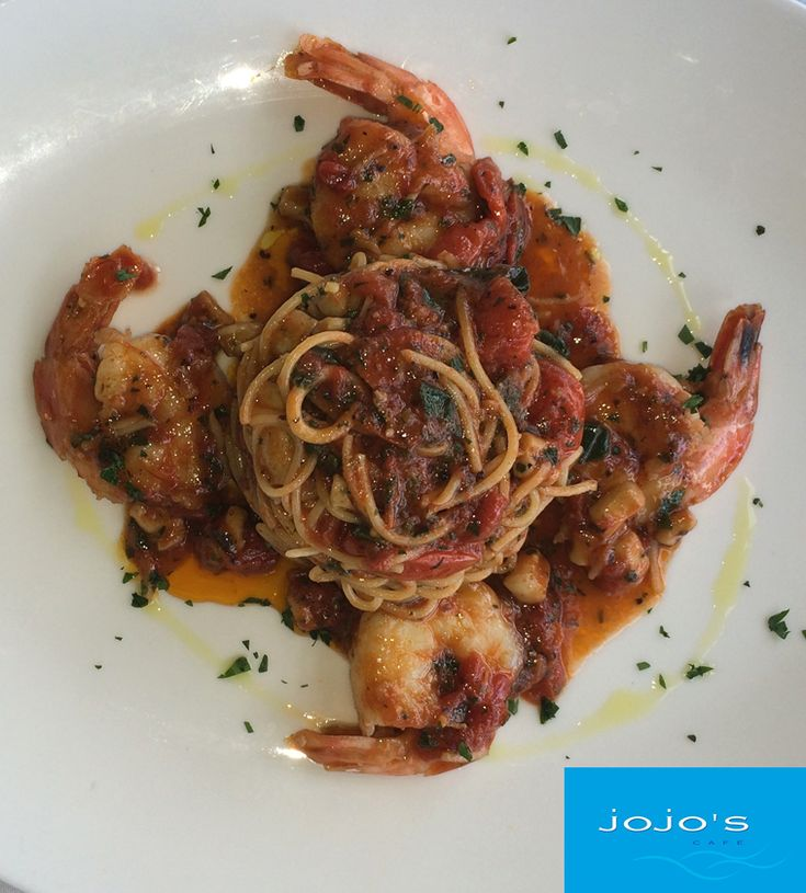 Jojo's Cafe in Nedlands - new entry #Italian #Wine & #Food Week  Special For the Festival: #Prawns and #Calamari Umberto Capellini Pasta Sautéed with Tiger Prawns, Calamary Tubes, Cherry Tomatoes, and Anchovies