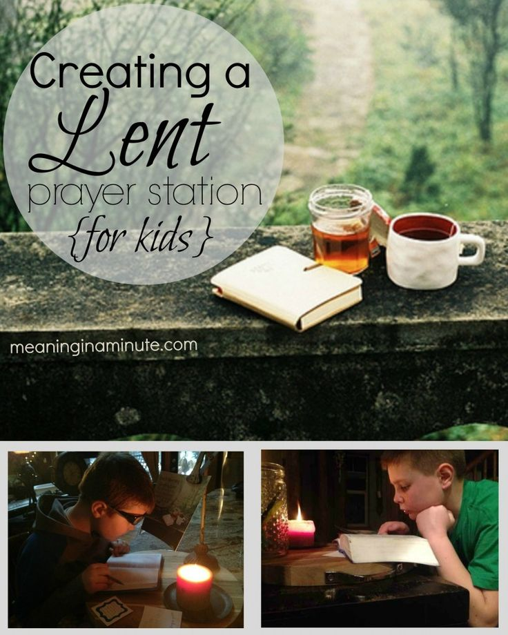 Creating a Lent Prayer Station {for kids} that takes only minutes a day. meaninginaminute.com #Easter #Lent #Growing Faith in Kids