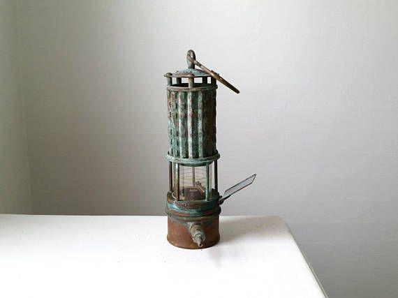 Antique Miner S Lamp Vintage Copper And Brass Lantern Miner S