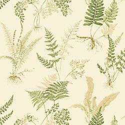 Thibaut's Fern printed fabric in Off White from Thibaut Classics.