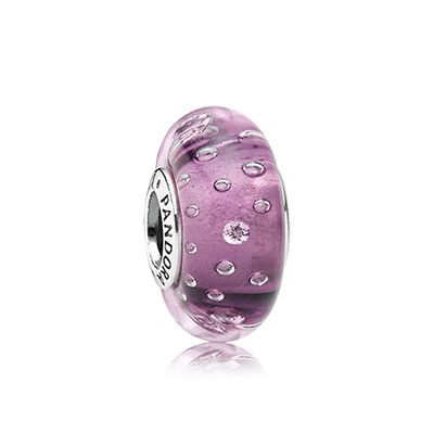 Purple Murano for the funky lady #PANDORAcharm #murano #glass