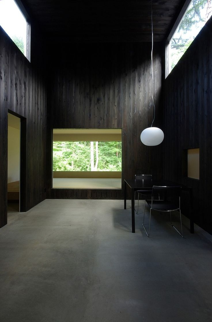 House in Fujizakura by Case Design Studio > dark Stained Wood