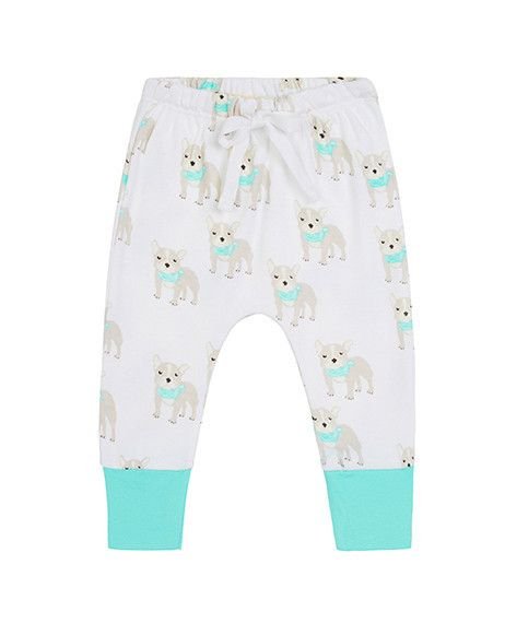 These pants are exclusively designed by Sapling, an Australian company specialising in 100% organic cotton children's wear. El Perro. Made from super soft, high quality, double jersey.  100% GOTS certified organic cotton. Printed with 100% GOTS approved water based dyes that are free from toxic chemicals and heavy metals. Features an elastic and drawstring waist, allowing for easy adjustments. Has ankle cuffs which can be rolled up or down for the perfect fit.