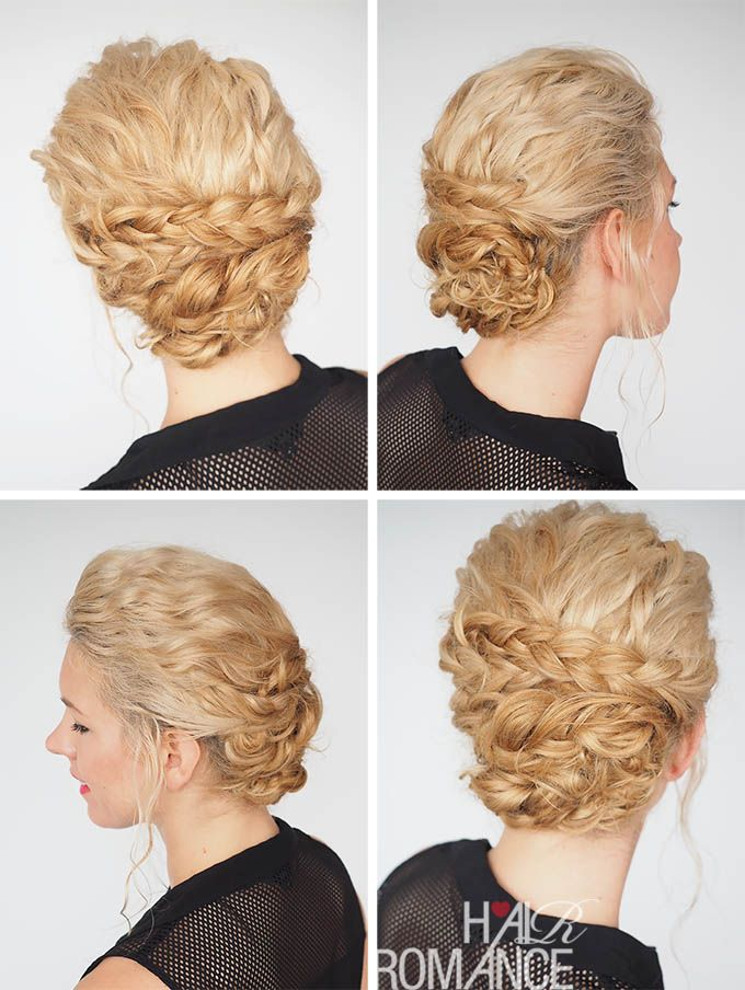 Bun Hairstyles For Curly Hair : 423 best curly hair styles: i dream of curls images on pinterest