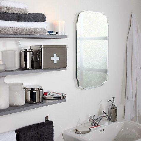 buy john lewis vintage bathroom wall mirror online at