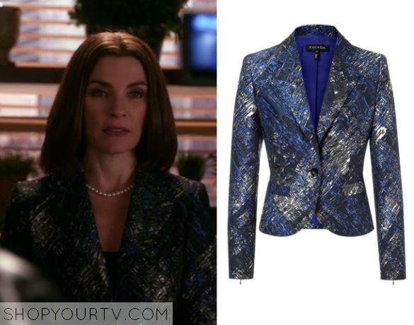 The Good Wife: Season 7 Episode 9 Alicia's Blue Brushstroke Blazer