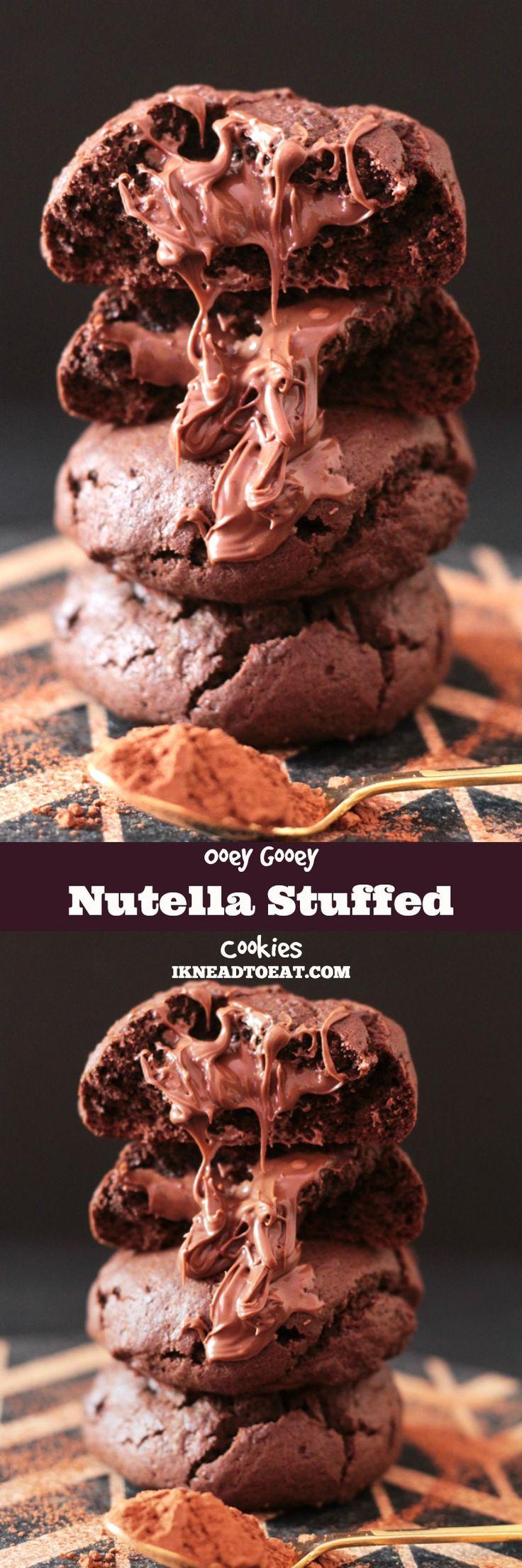 Ooey Gooey Nutella Stuffed Cookies (vertical pin)