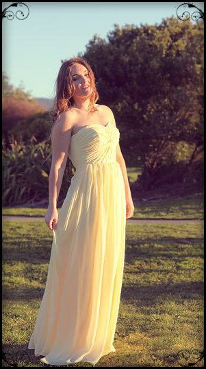 Viola, vintage inspired full length bridesmaid dress from designer Vintage Bleu nz, custom made in any color | Vintage Bleu