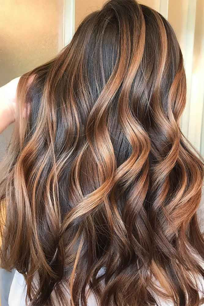 24 Stylish Ideas with Highlights for Dark Hair ★ Beautiful Ideas with Highlights for Long Hair Picture1 ★ See more: http://glaminati.com/highlights-for-dark-hair/ #hairstyles #highlights