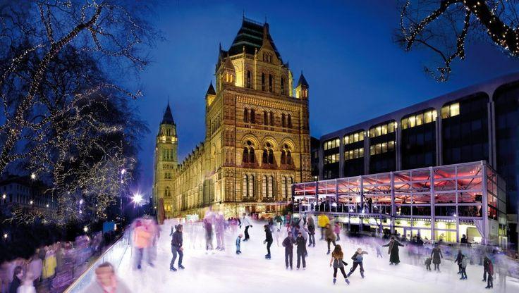 Patinar no gelo em Londres!