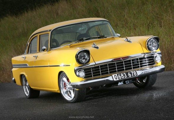 Aussie Custom Cars ~ 1960 FB Holden 4-door Sedan (given a '57 Chevy touch up)...