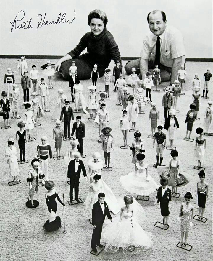 """Barbie's 'Mom' & 'Dad', Ruth and Elliot Handler. The first Barbie doll was introduced to our little girls in 1959, and Barbie's boyfriend came on the scene in 1961 ...""""With Love Everafter""""."""