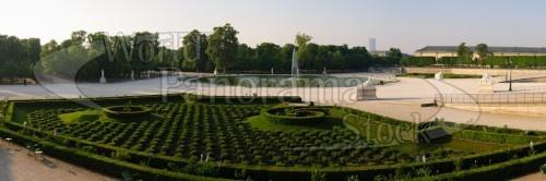 Jardin des Tuileries Paris France Panoramic