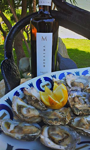 Oysters and Moraima Albariño. Perfect pairing