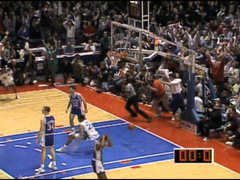 I remember thinking Duke is gonna blow this game, then this happened.  Probably the most memorable shot in NCAA tournament history.  Christian Laettner The Shot 1992 Duke vs. Kentucky Basketball