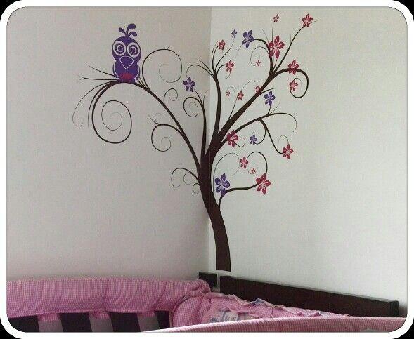 Vinilo decorativo en habitación infantil