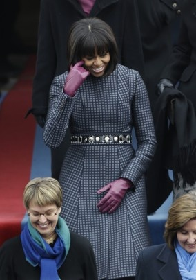 Michelle Obama starts the inauguration fashion parade in tailored Thom Browne - The Washington Post