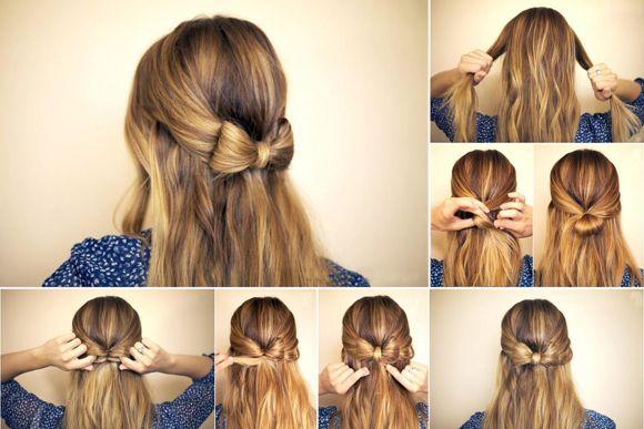Прическа бант/ Hair bow